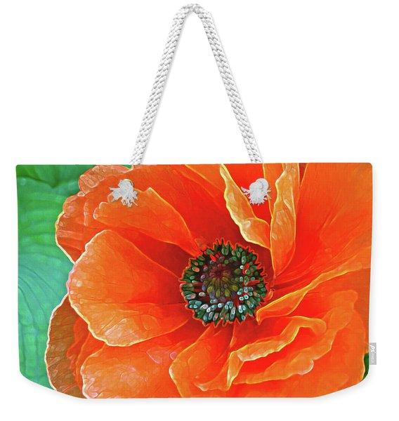 Poppy Red Weekender Tote Bag