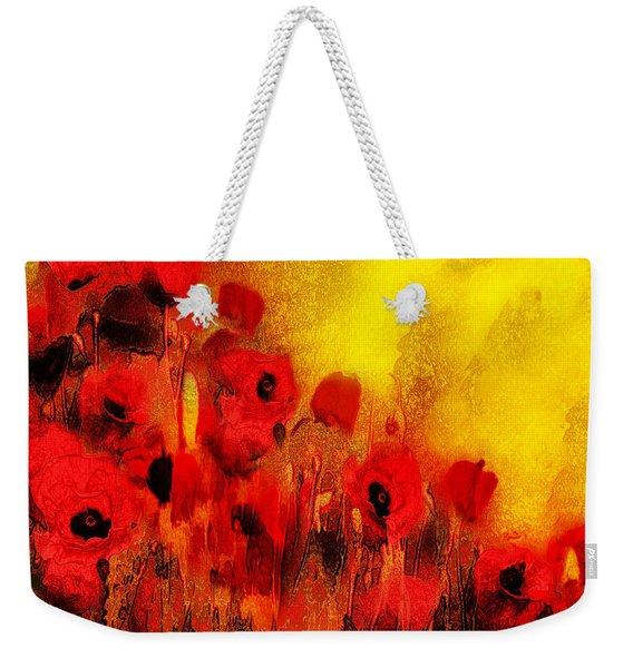 Poppy Reverie Weekender Tote Bag