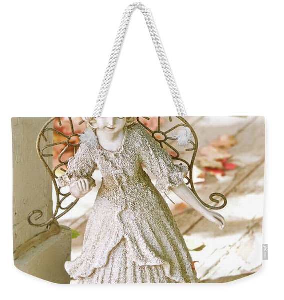 Porch Angel In The Fall Weekender Tote Bag