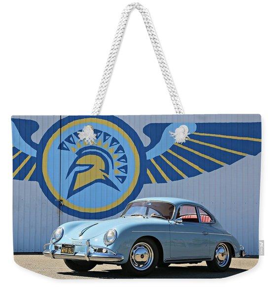 Porsche 356a True Blue Weekender Tote Bag