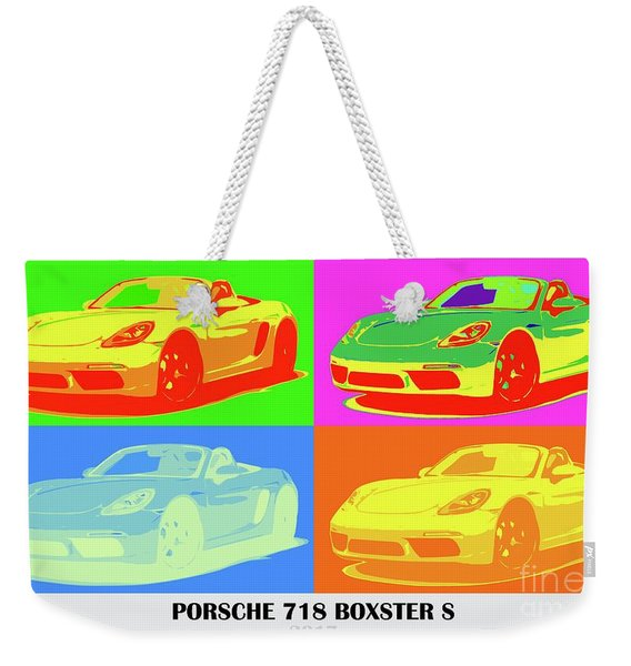 Porsche 718 Boxster S, Warhol Style, Office Decor Weekender Tote Bag