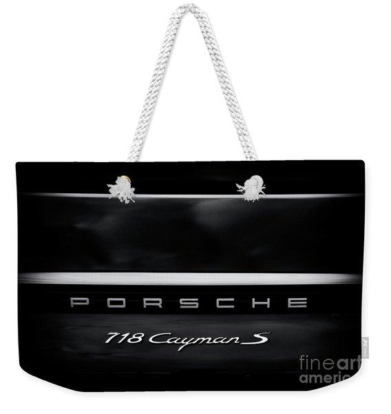 Porsche 718 Cayman S Weekender Tote Bag