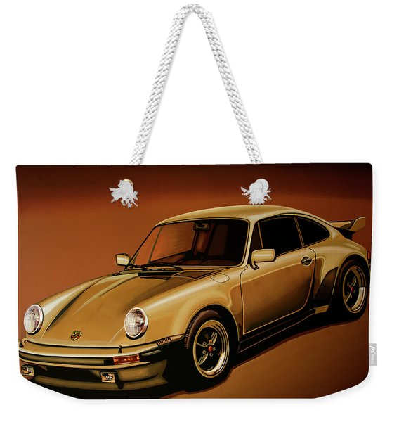 Porsche 911 Turbo 1976 Painting Weekender Tote Bag