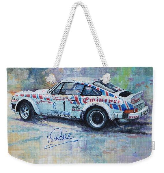 Porsche 911 Sc  Rallye Sanremo 1981 Weekender Tote Bag