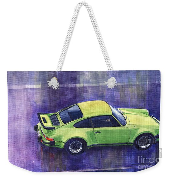 Porsche 911 Turbo Green Weekender Tote Bag