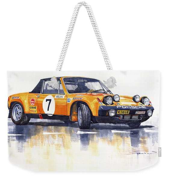 Porsche 914-6 Gt Rally Weekender Tote Bag