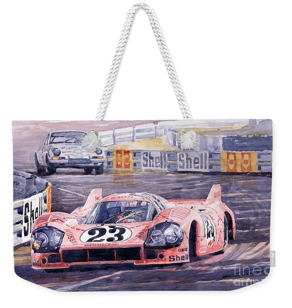 Porsche 917-20 Pink Pig Le Mans 1971 Joest Reinhold Weekender Tote Bag