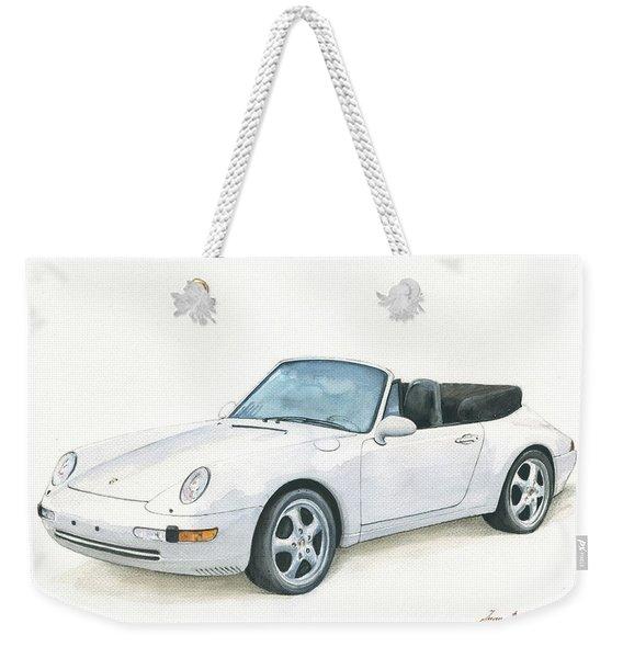 Porsche 993 Cabrio Weekender Tote Bag