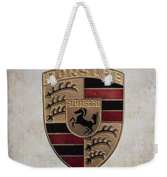 Porsche Shield Weekender Tote Bag