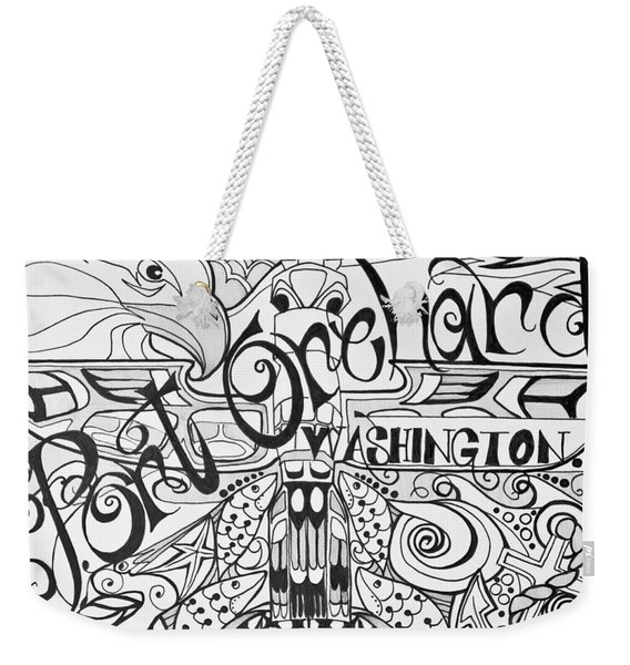 Port Orchard Washington Zentangle Collage 2 Weekender Tote Bag
