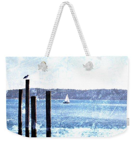 Port Townsend Pilings Weekender Tote Bag