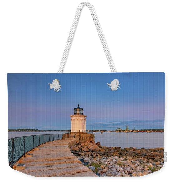 Portland Breakwater Light Weekender Tote Bag
