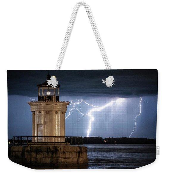 Portland Breakwater Lighthouse Weekender Tote Bag