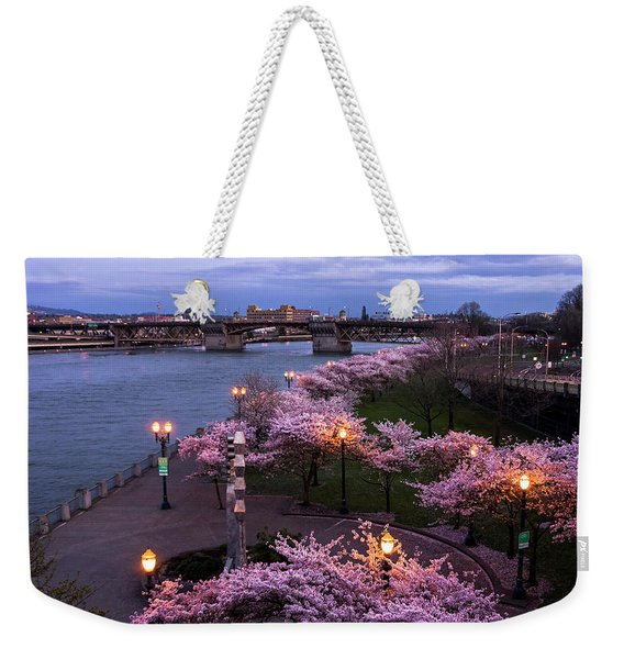 Portland Cherry Blossoms Weekender Tote Bag