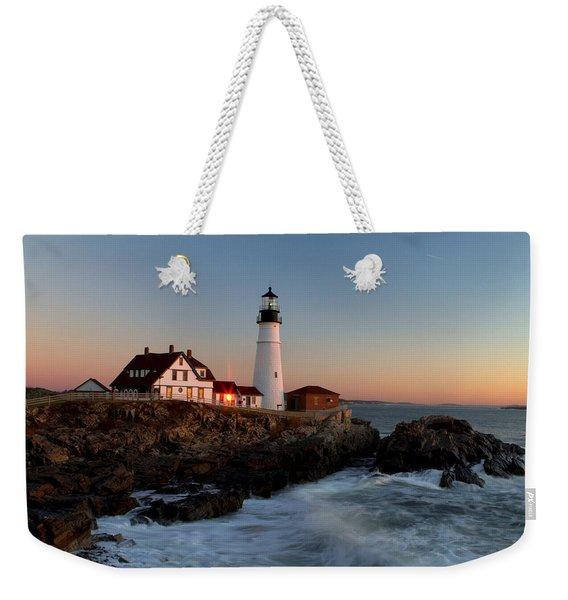 Portland Head Lighthouse Sunrise Weekender Tote Bag
