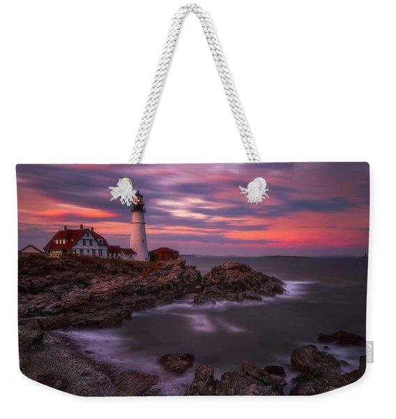 Portland Head Sunset Weekender Tote Bag