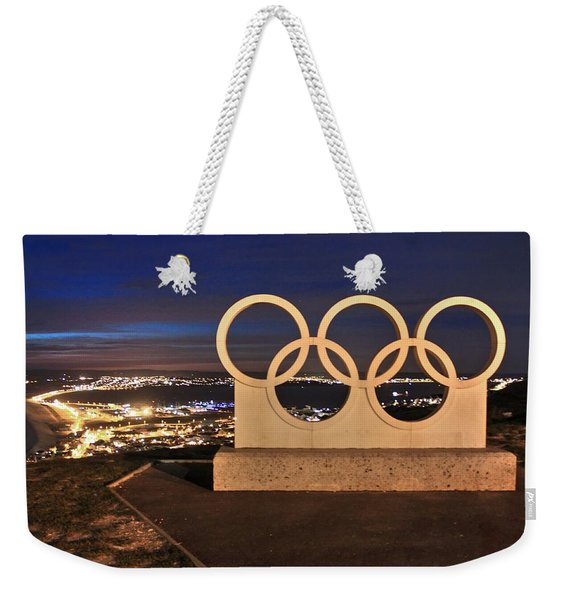 Portland Olympic Rings Weekender Tote Bag