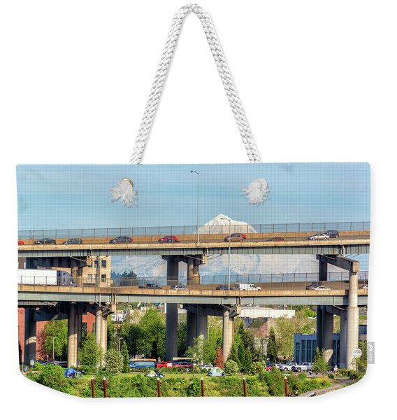 Portland, Oregon Traffic Weekender Tote Bag