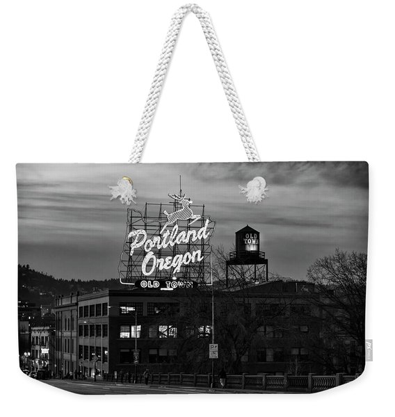 Portland Signs Weekender Tote Bag