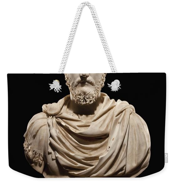 Portrait Bust Of Emperor Marcus Aurelius Weekender Tote Bag