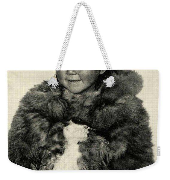 Portrait Girl Child Smith Sound Eskimo Tribe North Greenlan Weekender Tote Bag
