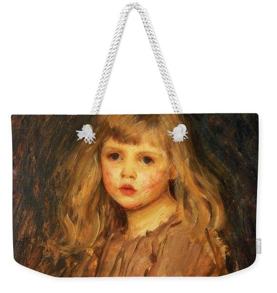 Portrait Of A Girl Weekender Tote Bag