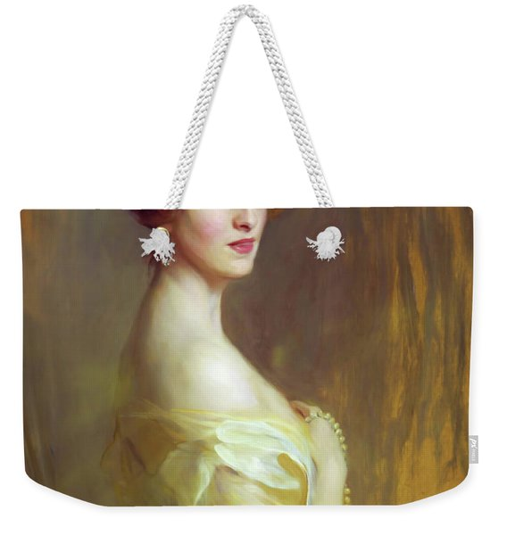 Portrait Of A Lady In Yellow Weekender Tote Bag