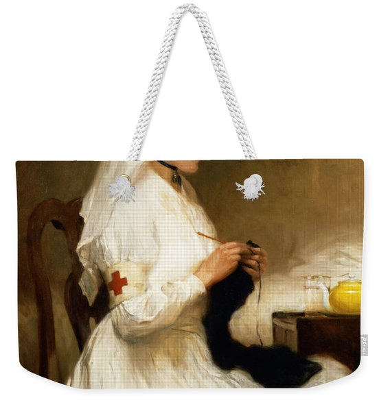 Portrait Of A Nurse From The Red Cross Weekender Tote Bag