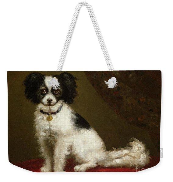 Portrait Of A Spaniel Weekender Tote Bag