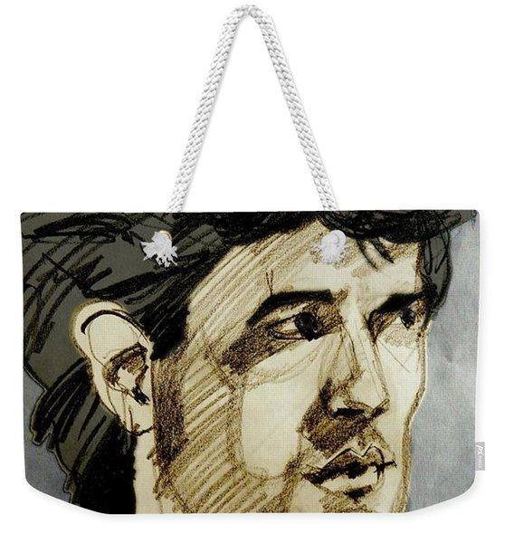 Portrait Of A Swarthy Young Man Weekender Tote Bag