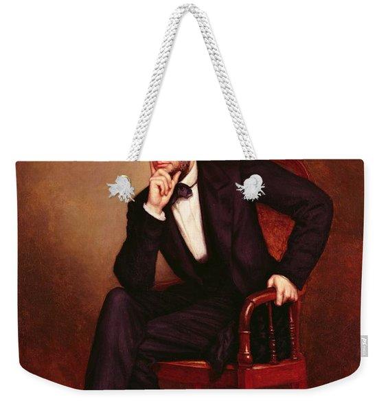Portrait Of Abraham Lincoln Weekender Tote Bag