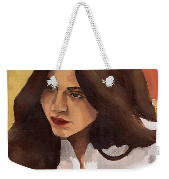 Portrait Of Amelia Weekender Tote Bag