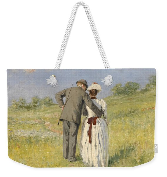 Portrait Of Captain William Holmes And Mary Shafter Mckitterick Weekender Tote Bag