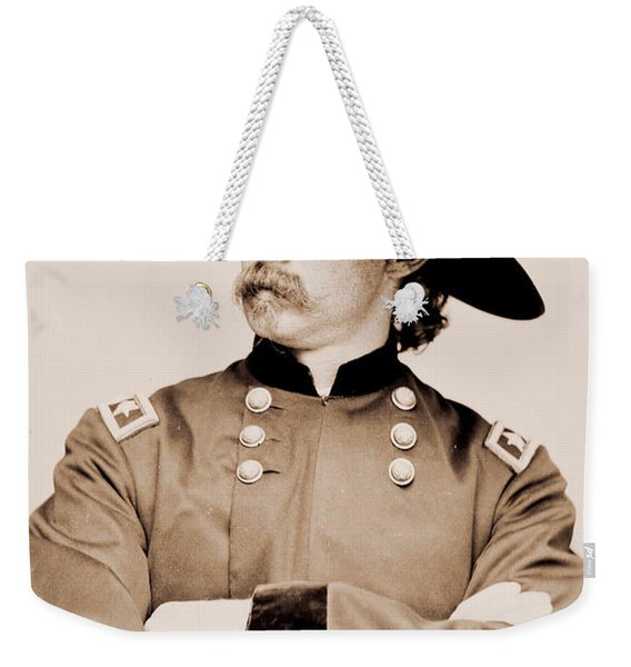Portrait Of General George A Custer Weekender Tote Bag