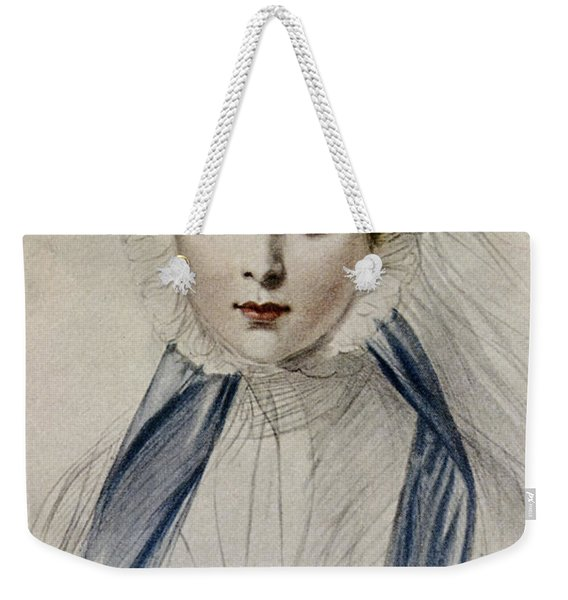 Portrait Of Her Majesty Queen Victoria As A Young Woman By Emile Desmaisons Weekender Tote Bag
