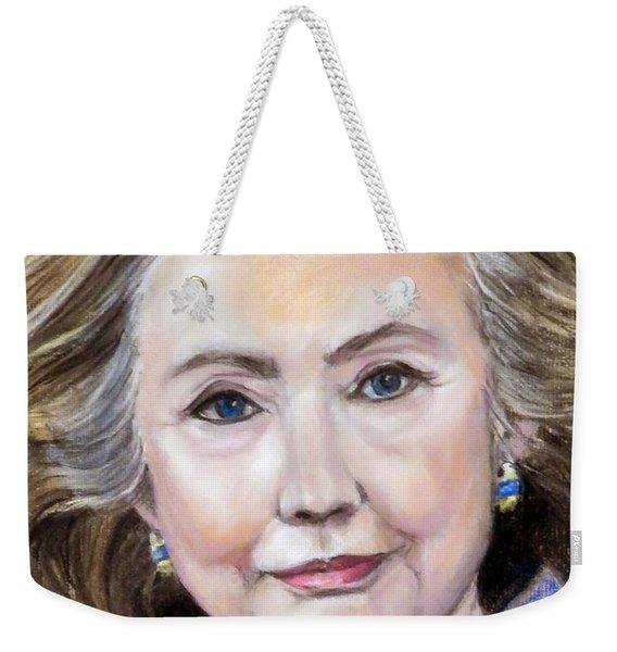 Pastel Portrait Of Hillary Clinton Weekender Tote Bag