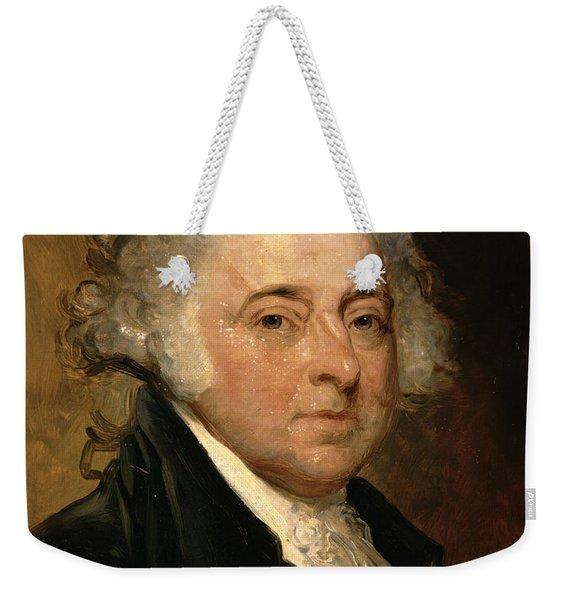 Portrait Of John Adams Weekender Tote Bag