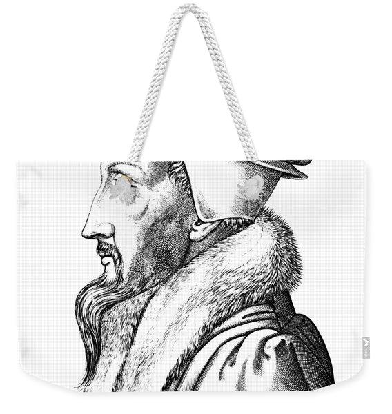 Portrait Of John Calvin Weekender Tote Bag