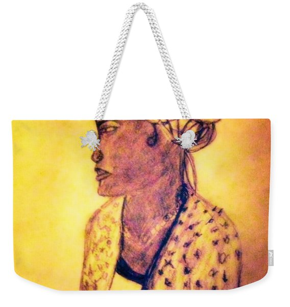Portrait Of Lovely African Woman Weekender Tote Bag