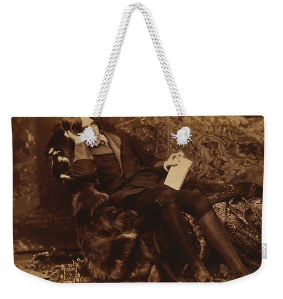 Portrait Of Oscar Wilde Weekender Tote Bag