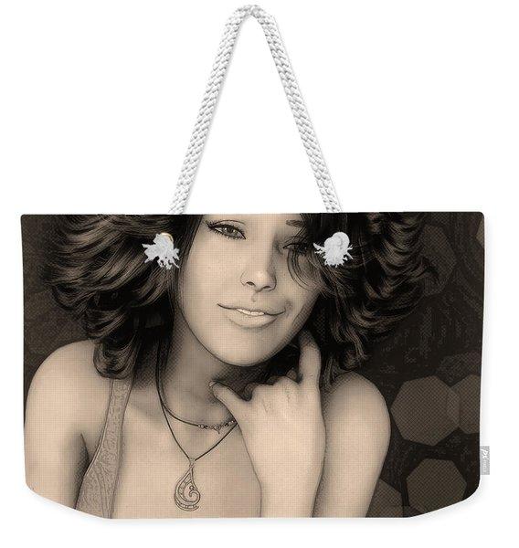 Portrait Of Rose Weekender Tote Bag