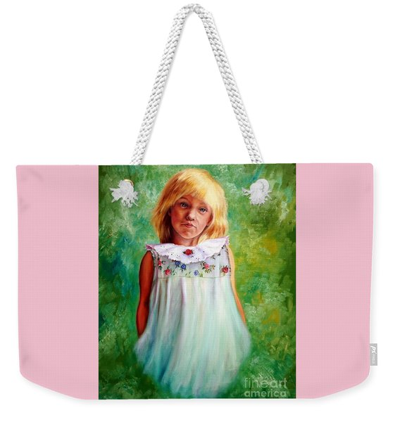 Portrait Of Sara Weekender Tote Bag
