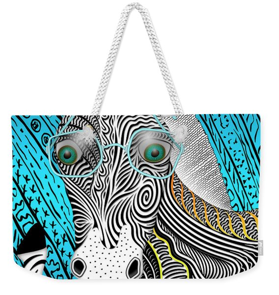 Portrait Of The Artist As A Young Zebra Weekender Tote Bag