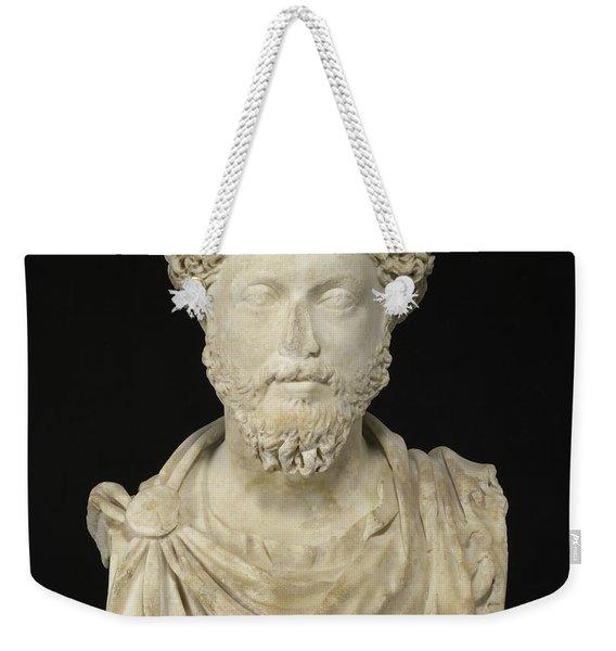 Portrait Of The Emperor Marcus Aurelius Weekender Tote Bag