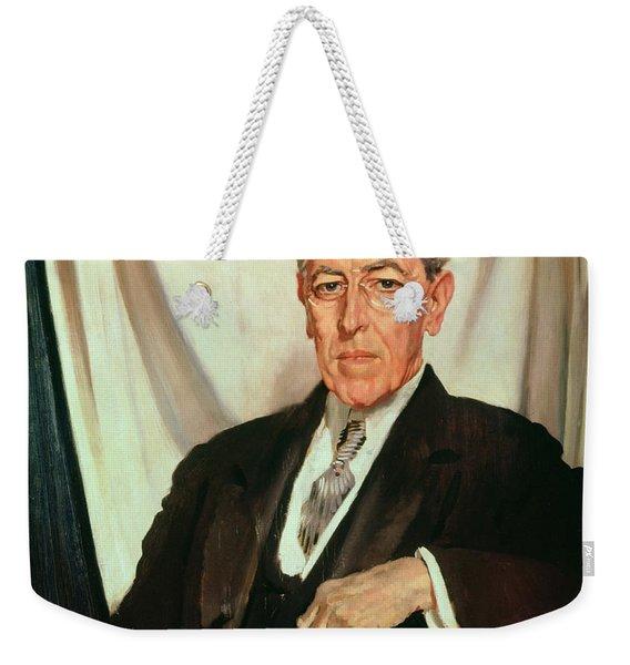 Portrait Of Woodrow Wilson Weekender Tote Bag
