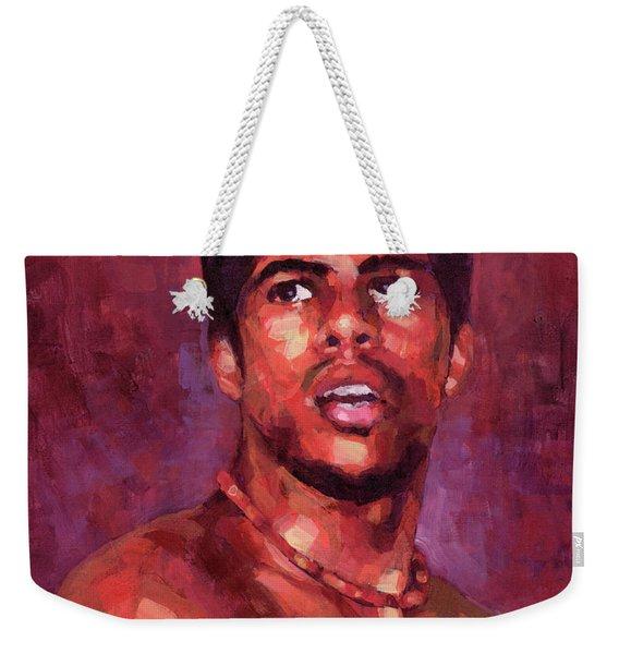 Portrait Of Young Brazilian Weekender Tote Bag