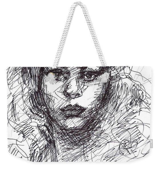 Portrait Sketch  Weekender Tote Bag