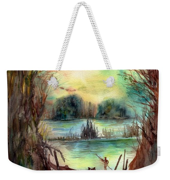 Portrait With A Boat Weekender Tote Bag