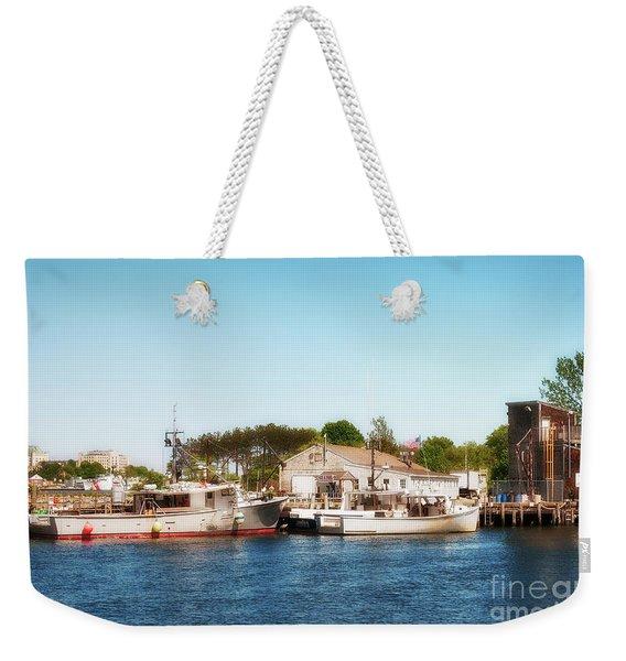 Portsmouth Fishing Pier Weekender Tote Bag