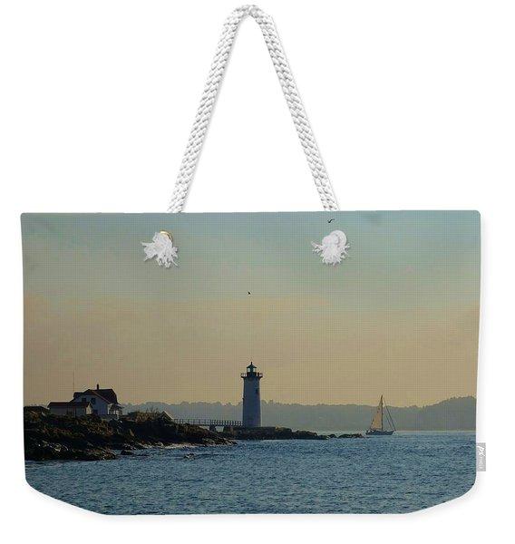 Portsmouth Harbor Lighthouse Weekender Tote Bag